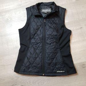 ⭐️eddie  bauer medium black vest quilted